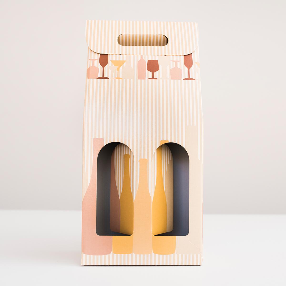Caja microcanal 2 botellas