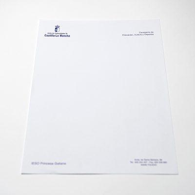 Cartas A4 1 tinta